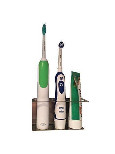 Zahnbürstenhalter aus Edelstahl, Halter für elektrische Zahnbürsten 3 Plätze