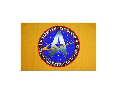 filmwelt-shop Star Trek Starfleet Command - Flag - Banner Limited Edition 59 X 35 Inch