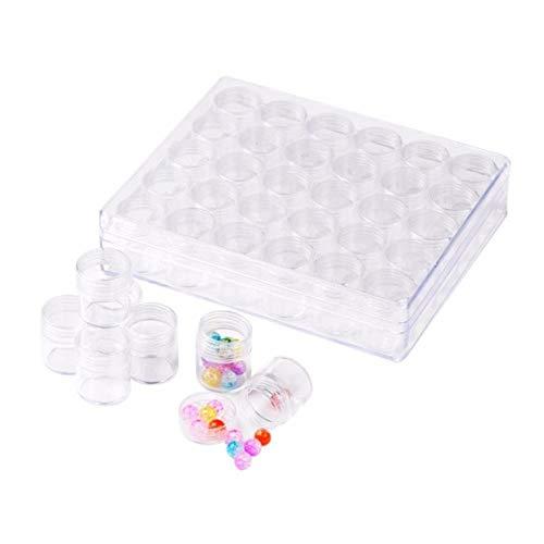 Opslagcontainer, 1 set / 3 sets (30 stuks potten/set) kralen containers sieraden dozen doorzichtige plastic doos kralen organisatoren fles diamant schilderij opslag, 1 set