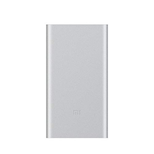 Xiaomi Mi 2 – Power Bank da 10000 mAh, custodia sottile da 14,1 mm, ricarica rapida in due modi, colore: argento