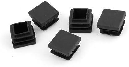 DealMux 22mm x 22mm Zwarte Harde Plastic Buizenstelselbuis Insert Caps 5 PCs