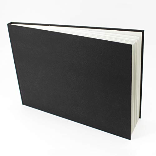 Artgecko Classy Skizzenbuch, A4, Querformat, 92 Seiten (46 Blatt), 150 g/m², säurefrei, weißes Zeichenpapier