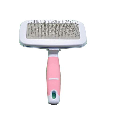 guoyan Pet Dog Hair Removal Combs Cleaning Brush Grooming Combs Tool Candy Color Pets-Pink||S