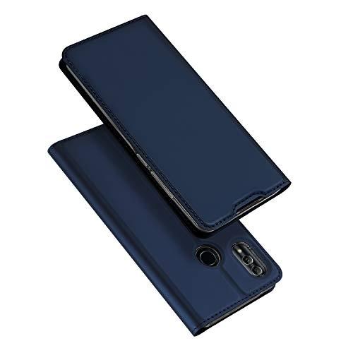 Honor 10 Lite, Leder Flip Handyhülle Schutzhülle Tasche Case mit [Kartenfach] [Standfunktion] [Magnetverschluss] für Huawei Honor 10 Lite (Blau)