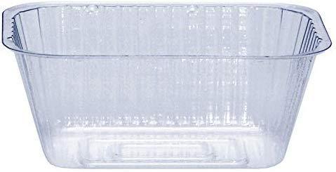 Curtis Wagner Plastics Drip Pan Saucers (5-Pack) - Clear, Oval (Diameter: 4.75 x 2.75 Base, 6.5 x 4.5 x 2.5 Top, 2.5 Depth) Thin Plastic Plant Tray -  Curtis Wagner Plastics Corp.