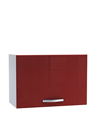 13Casa moss a2 pensile 60cm 1anta. dim. 60*30*42h cm. nobilitato. bianco opaco + rosso lucido.