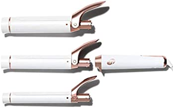 T3 - Twirl Trio Interchangeable Curling Iron   Custom Blend Ceramic Three Barrel Professional Curling Iron Set for Endless Styling Possibilities   1 Inch, 1.25 Inch, and 1.5 Inch Clip Barrels