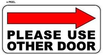 picture relating to Please Use Other Door Signs Printable titled : Make sure you Seek the services of Other Doorway Instantly Arrow - Enterprise
