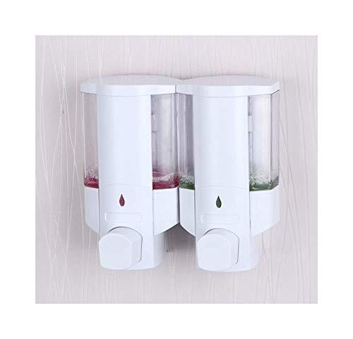 NMDD Lotionspender Flasche Weiß Wand Seifenspender Duo Transparent Handpresse Händedesinfektionsmittel Shampoo Duschgel Für Bad Werbung