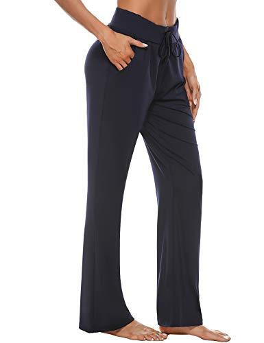 Irevial Pantalones de Yoga para Mujer Modal,100% Algodon,Alta Cintura Elásticos pantalón...