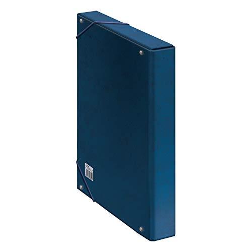 Dohe 9736 - Caja proyectos lomo, 35x24x7 cm, color azul