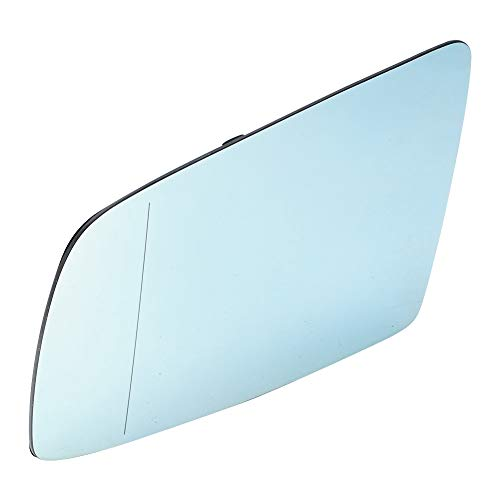 Espejo retrovisor azul del lado izquierdo del conductor Calefacción eléctrica Lente retrovisora calefactada Espejo de ala de vidrio apto para 5 Series E60 E61 2003-2010 accesorios de automóvil