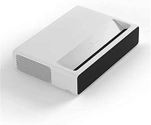 Proyector QOHG Proyector de Lanzamiento Ultra Corto 6500 lúmenes WiFi MIUI TV Bluetooth 3000: 1 Control de Voz Full HD Familia Entretenimiento