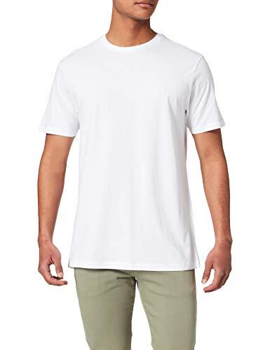 Springfield Camiseta básica Logo Camisa, Blanco, S para Hombre