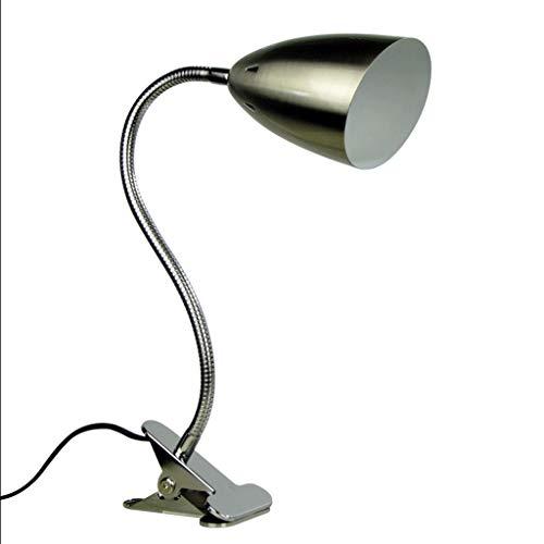 Lámpara Escritorio LED Lámpara de escritorio LED con clip Lámpara de escritorio flexible con cuello de ganso Lámparas de estudio...