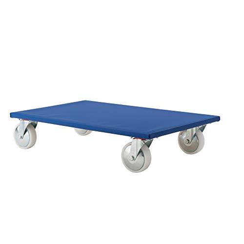 3 profesional carretilla color: azul, para muebles, cajas, motores, herramientas - tamaño...