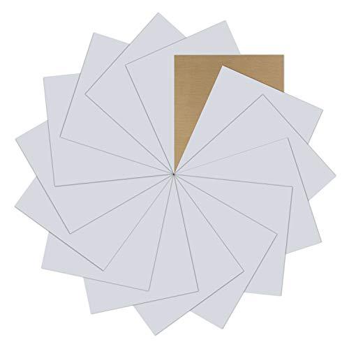 "Silver Heat Transfer Vinyl Bundle : 15 Pack 12"" x 10"" Sheets - Silver Iron on Vinyl for DIY Iron on Fabrics T-Shirts Heat Press Machine"