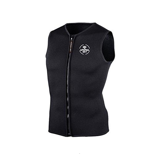 gresonic 3MM Neopren Weste Tauchen Unterzieher Tauchweste Jacke Wärmeschutz unter Tauchanzug Badeweste für Wassersport -XXXL