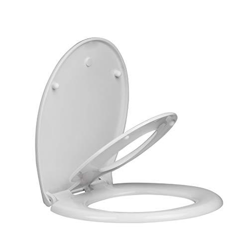 DNSJB Couvercle De La Toilette À Fermeture Douce, Siège De Toilette avec Siège De Propreté pour Enfant Intégré, Rond Blanc