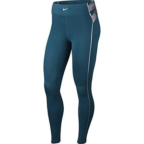 Nike CLN Hyperwarm Tights, Donne Donna, Midnight Turq Metallic Silver, S