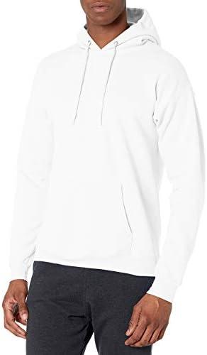 Hanes Men s Pullover Ecosmart Fleece Hooded Sweatshirt white Small product image