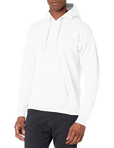 Hanes Men's Pullover EcoSmart Hooded Sweatshirt, white, Large