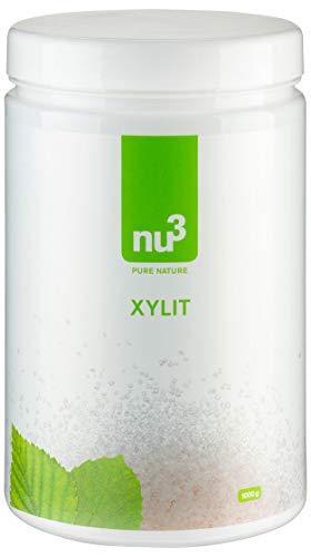 nu3 Xylit (Xilitolo di betulla 1kg) | Xilitolo dolcificante | 100% zucchero di betulla naturale | 40% di kcal in meno | Grana grossa | 1000 g