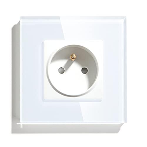 BSEED - Enchufe de pared (16 A, enchufe de corriente alternativo), color blanco
