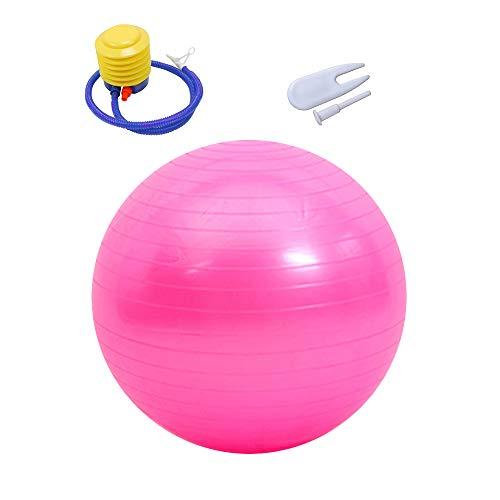 KINDOYO Palla da Pilates - Palla da Ginnastica Palla Fitness con Pompa Rapida per Yoga, Fitness, Pilates, Rosa-1, 45CM