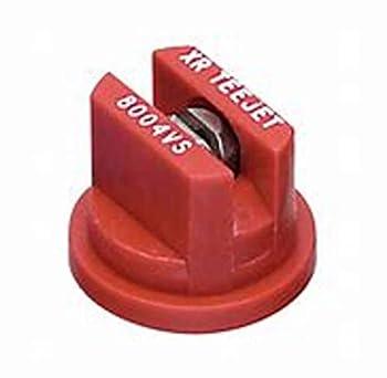 TeeJet XR8004VS Extended Range Spray Tip 0.24-0.49 GPM 30-60 psi Stainless Steel - Red
