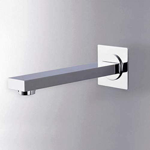 TYOLOMZ Bocca erogazionerubinetto rubinettovasca quadrata a parete bagno ottone cromato