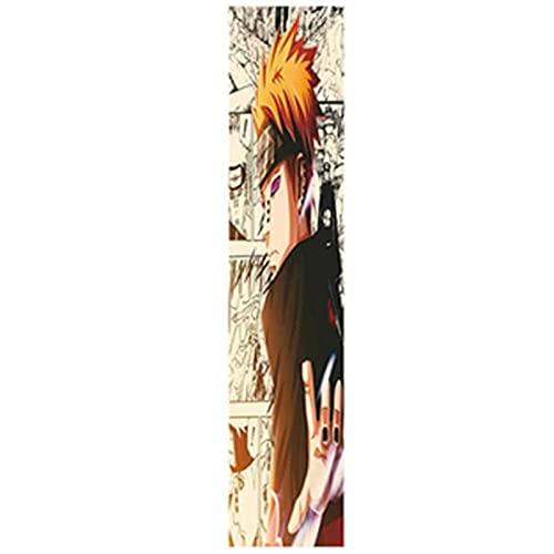 YiShuHua Skateboard Griptape, Tapa de la Cinta de Agarre de la patineta 33x9 Pulgada (Estilo de 24,), Cinta de Agarre de Scooter, Papel de Emergencia para la Tabla de Ondas (Color : F)