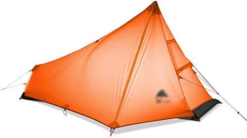 Tienda de campaña, tiendas tiendas de campaña Forcamping Coleman Tent Ultralight Individual Persona Tienda Pirámide Tienda Tienda de campaña Camping Camping (Color: Amarillo, Tamaño: 215 * 105 * 125cm
