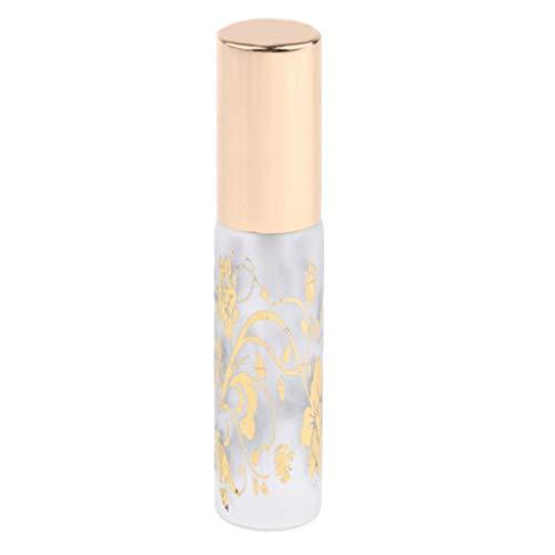 Hellery 10ml De Parfum Rechargeable Vaporisateur Flacon Atomiseur Vide Conteneur D'impression De Fleurs - Verre 10ml 1pc
