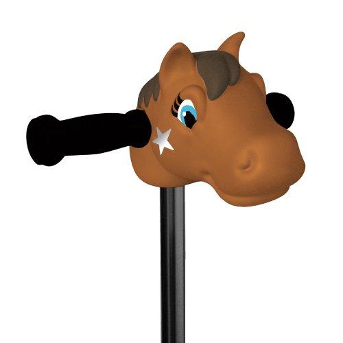 Scootaheadz Pony: Kinder Scooter Zubehör Scooter Pony Kopf | Braun | Passt An Gängige 2 Und 3 Rädrige Roller für Kinder