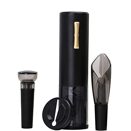 WGHH Abridor de vinos eléctricos, abrelatas automáticos del sacacorchos de la Botella de Vino eléctrico con Cortador de Papel de Aluminio, abrebotellas de Botellas de Vino Reutilizables para el hogar