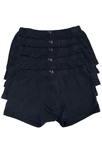 JP 1880 Herren große Größen bis 16, Pants 5er Pack Unterhosen, Boxer-Shorts, Hipster Slips, Schlüpfer Elastikbund, schwarz, dunkelblau Navy 14 711245 70-14