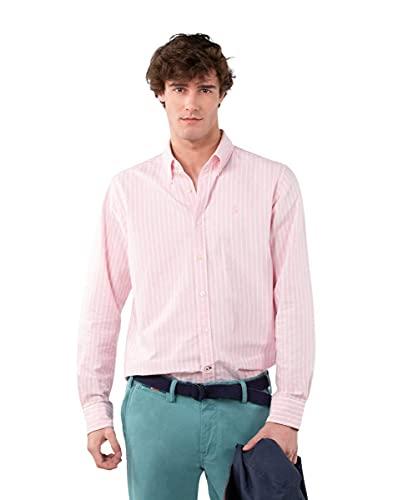 El Ganso Camisa Rayas Fondo Rosa