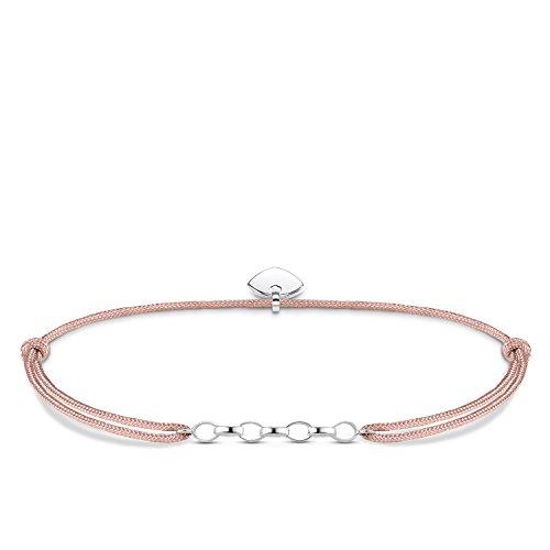 Thomas Sabo Damen-Armband Little Secret 925 Sterling Silber Beige LS048-173-19-L20v