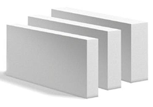 10ér Porenbetonplatten 10,0 x 19 x 62,5 cm Porenbeton Gasbeton Planstein Mauern Dämmen Dämmung - 112 Stück / 13,30 qm / 1,30 cbm