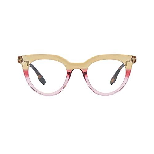 K-EYES – Gafas de lectura – Dioptría + 2 – Forma mariposa – Color Beige – ramas flexibles – Diseñado en Francia