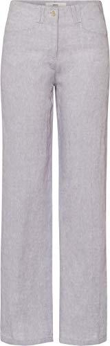 BRAX Damen Style Farina Leinenhose mit legerer Silhouette Hose, Silver Grey, 42