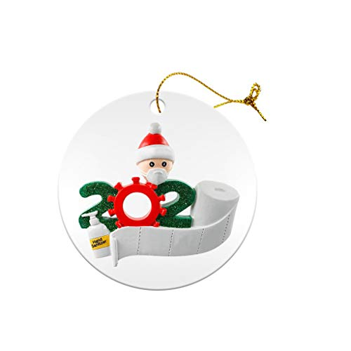 2020 Christmas Tree Decoration Lighted Pendant Faceless Old Man Ornament Santa Wearing Facemask Decorate Ornaments Friends Gift Holiday Decor Hat Xmas Decorat