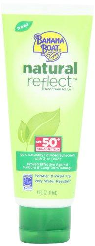 Banana Boat Natural Reflect Sunscreen Lotion SPF 50, 4 Fluid Ounce