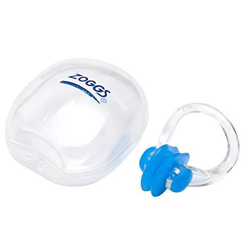 Zoggs, Clip de nariz de natación de silicona suave unisex con estuche, colores surtidos, talla única, 1 unidad
