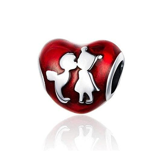 Venta caliente niño y niña para siempre árbol genealógico bloqueo corazón amor traje de cuentas, B4,03