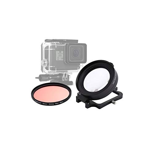 58mm objectif 16X Macro filtre de lentille de plongée Rouge Avec Cache-objectif adaptateur de Bague de filtre d'objectif