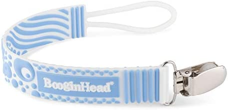 BooginHead Baby Newborn Pacigrip Food Grade Silicone Pacifier Clip Blue product image