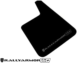 Rally Armor MF20-URP-BLK/GRY Black, Gray Mud Flap with Logo (Larger Universal Fitment (no Hardware) UR Plus)