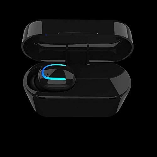 Q26 Bluetooth Headset Fan Ultra Small unsichtbare drahtlose Sport-laufende Earbuds einzelnes Ohr mit Kabine Angreifen, Schwarz FEOPW
